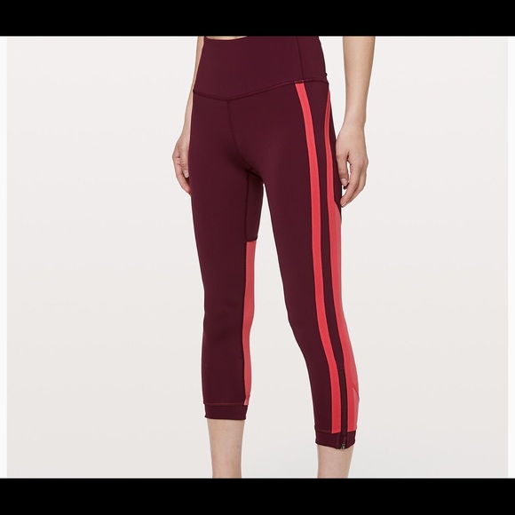 944c2dfcd09ac lululemon athletica Pants | Lulu Lemon Zip The Line Crop | Poshmark